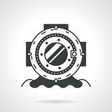 Scuba helmet black round vector icon
