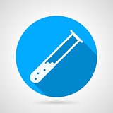 Test tube flat round vector icon