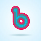 Vector design editable logo element. Multicolored abstract letter b logo design isolated on light background. Elegant minimal letter symbol.