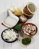 Ingredients of Mushroom Julienne