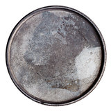Grungy round metal plate