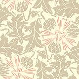 Vintage Seamless floral linen pattern