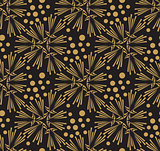 Golden ornate vector seamless pattern. Gorgeous abstract fabric texture