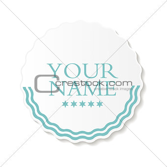Abstract Design Label Vector Illustration