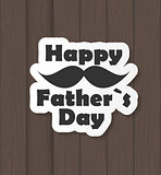 Happy Father Day Poster Card Vector Illustration