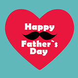 Happy Father`s Day Poster Card Vector Illustration