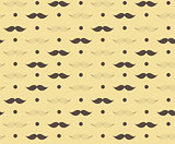 Moustache Seamless Pattern Vector Illustration