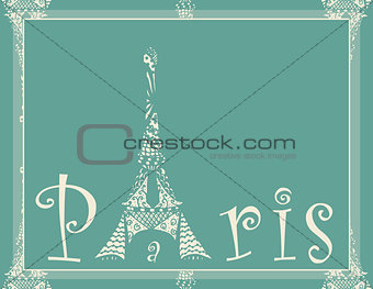 card with eiffel tower