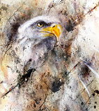 beautiful painting of eagle on an abstract background,color with