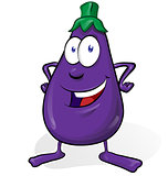 eggplant cartoon isolated on white background