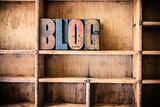 Blog Concept Wooden Letterpress Theme
