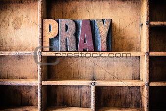 Pray Concept Wooden Letterpress Theme