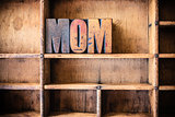 Mom Concept Wooden Letterpress Theme