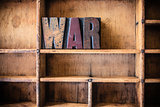 War Concept Wooden Letterpress Theme