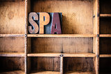 Spa Concept Wooden Letterpress Theme Concept Wooden Letterpress