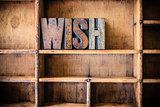 Wish Concept Wooden Letterpress Theme