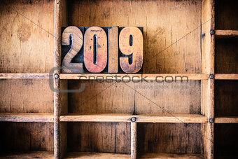 2019 Concept Wooden Letterpress Theme