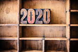 2020 Concept Wooden Letterpress Theme