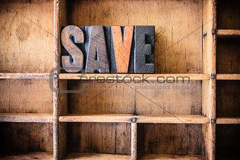Save Concept Wooden Letterpress Theme