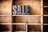Sale Concept Wooden Letterpress Theme