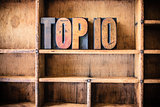 Top 10 Concept Wooden Letterpress Theme
