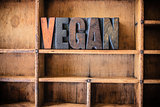 Vegan Concept Wooden Letterpress Theme
