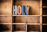 Holy Concept Wooden Letterpress Theme