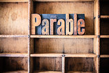 Parable Concept Wooden Letterpress Theme