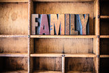 Family Concept Wooden Letterpress Theme