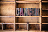 Cancer Concept Wooden Letterpress Theme