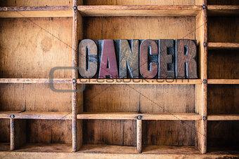 Cancer Concept Wooden Letterpress Theme