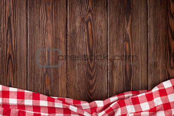 Kitchen table with red towel