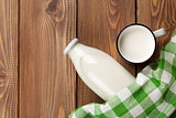 Milk cup and bottle