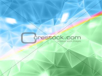 beautiful vector stylized landscape