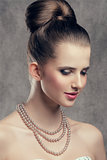 close-up of elegant woman
