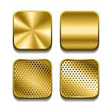 Apps metal icon set.