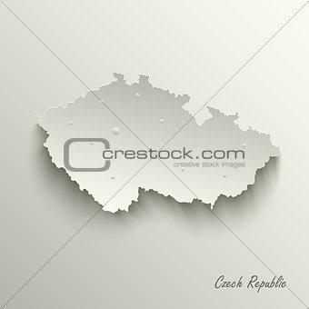 Abstract map Czech Republic template