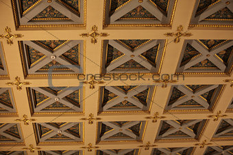 ancient ceiling with caissons