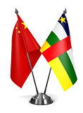 China and Central African Republic - Miniature Flags.