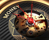 Money on Black-Golden Watch Face.