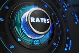 Rates Regulator on Black Control Console.