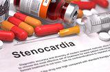 Stenocardia Diagnosis. Medical Concept.