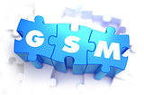 GSM - White Word on Blue Puzzles.