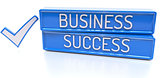 Business Success - 3d banner, isolated on white background