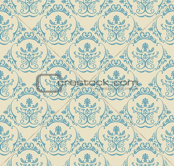 Background vintage. Seamless wallpaper floral pattern
