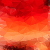 Light orange red abstract polygonal background. Vector