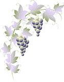 Pattern of vines for page decoration. EPS10 vector illustration