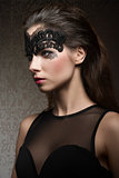 Brunette in mask