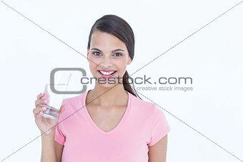 Beautiful woman drinking glass of water