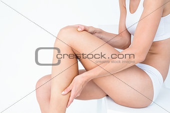 Fit woman with knee pain